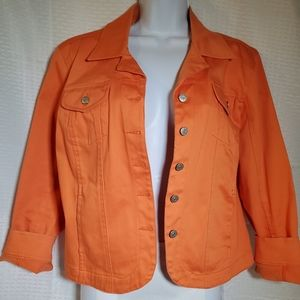 Jacket Orange Fall Lightweight Sz L